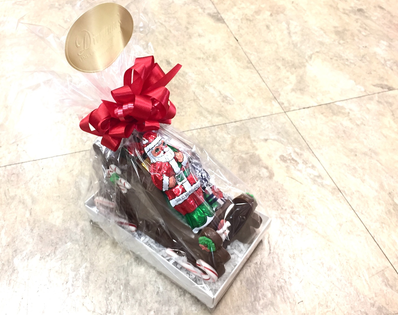 Chocolate sleigh, $25 from Dinstuhl's