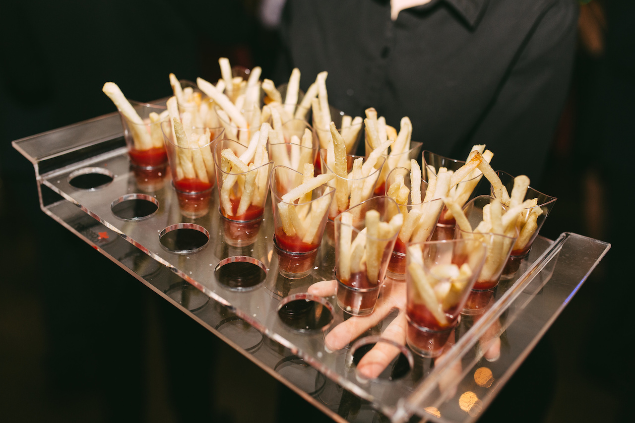 Guests also noshed on a late night offering of french fries in ketchup.