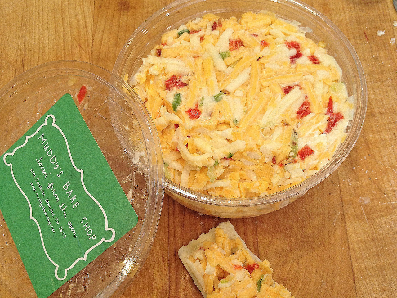The Muddy's Bake Shop pimento cheese is divine!
