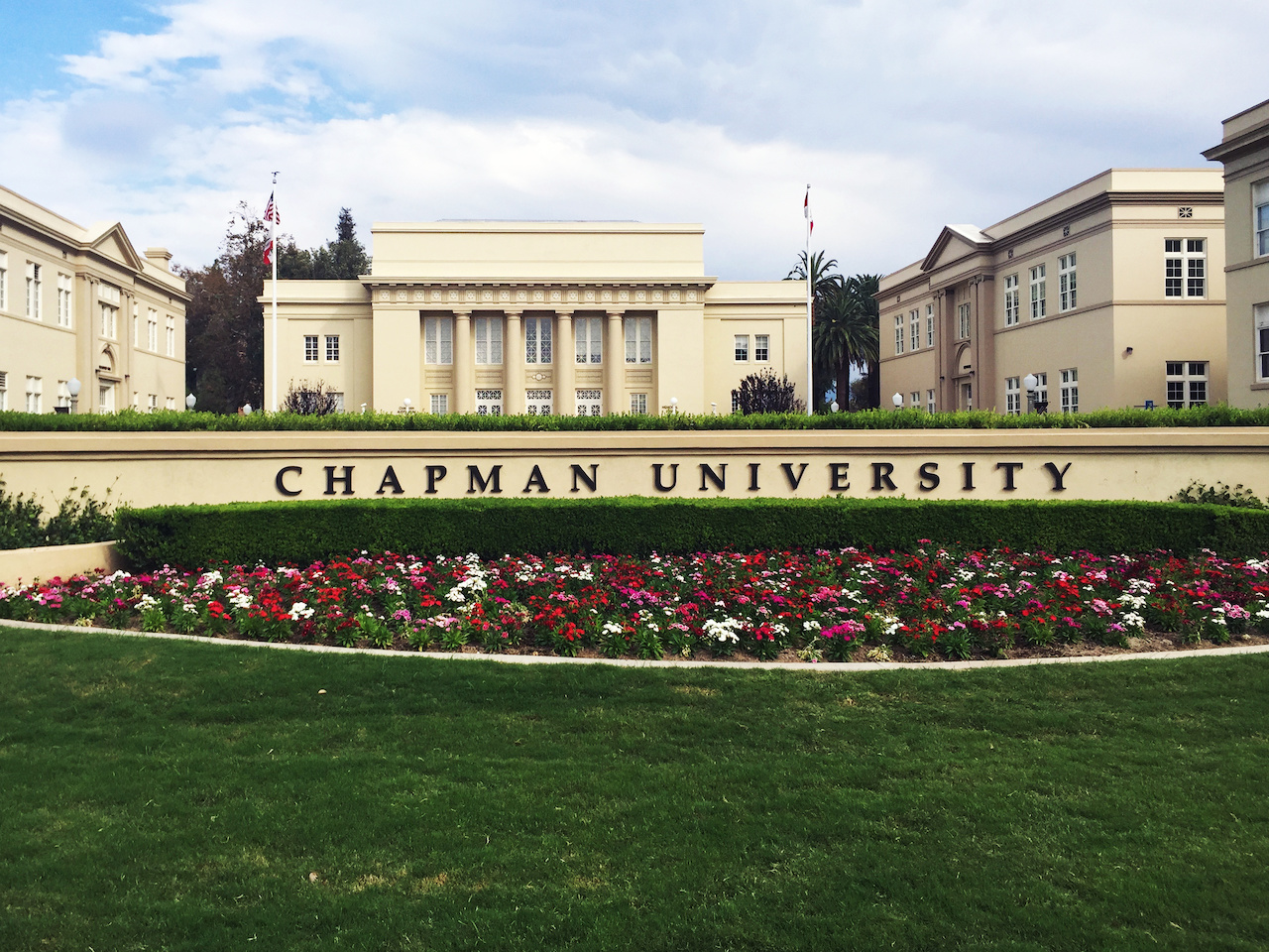 If the quad at Chapman University looks familiar, that's because it was a primary setting in the 1994 Denzel Washington Film Crimson Tide.