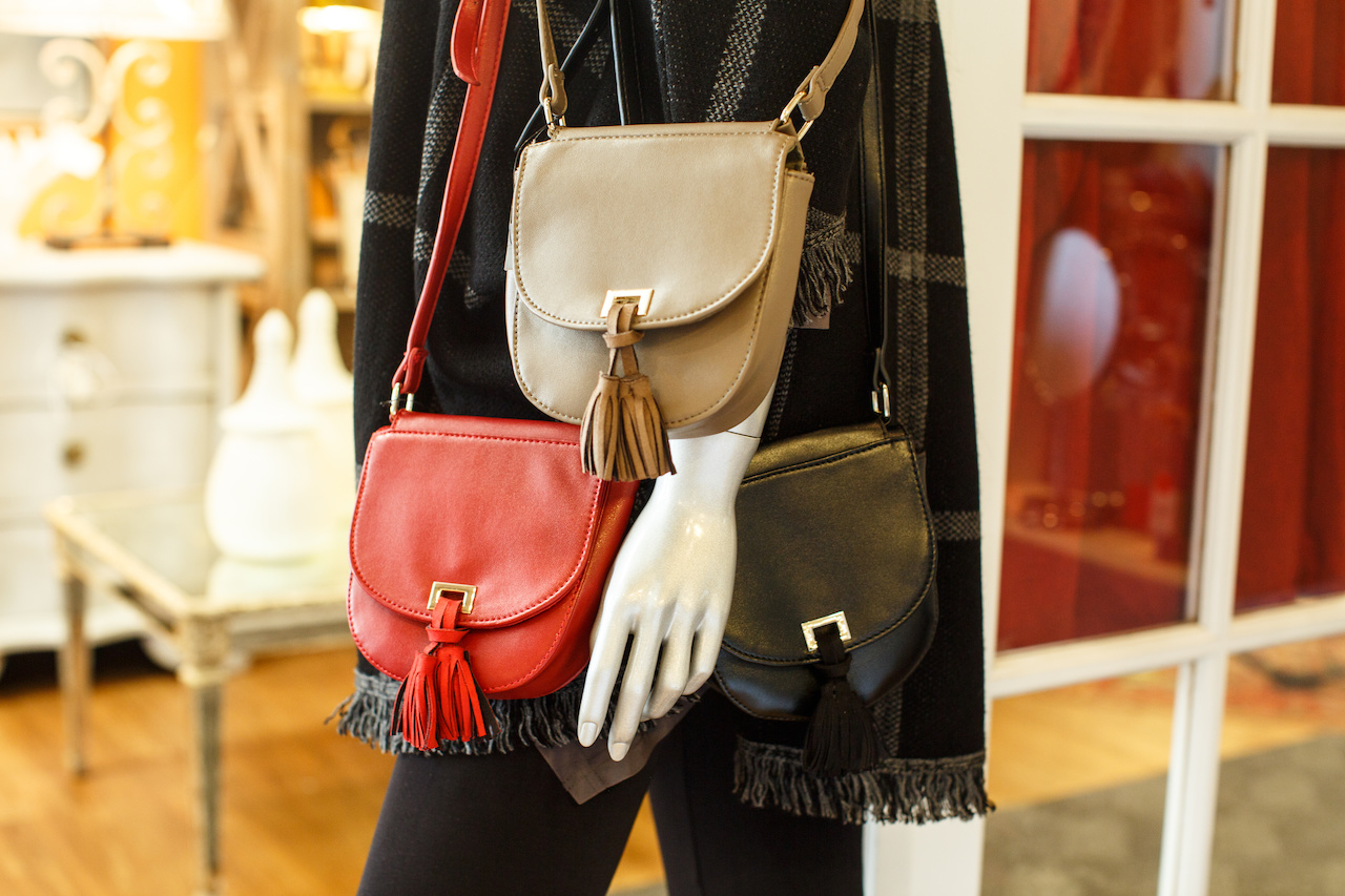 Faux leather crossbody bags, $62 from Chocolat