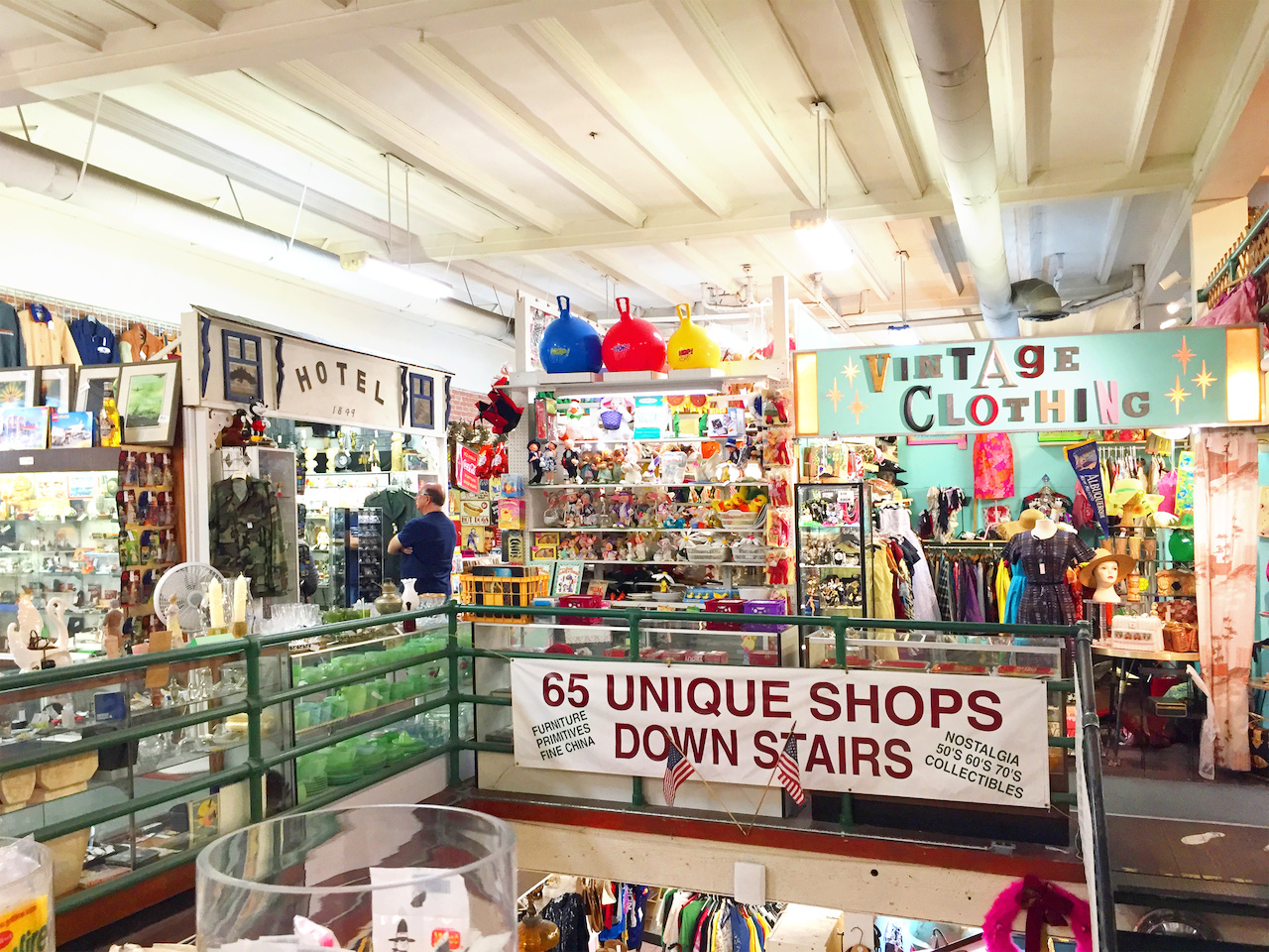 The Orange Circle Antique Mall is two floors of vintage clothing, collectibles and antiques.