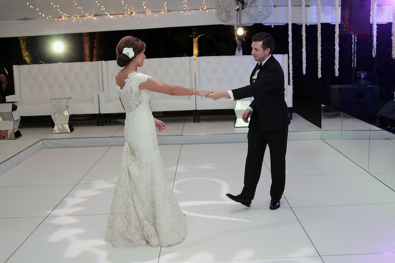"After several dance lessons, Bryson claims that Matthew has become quite the dancer! The couple, who shared their first dance to Matthew and Bryson shared their first dance to ""Amazed"" by Lonestar."