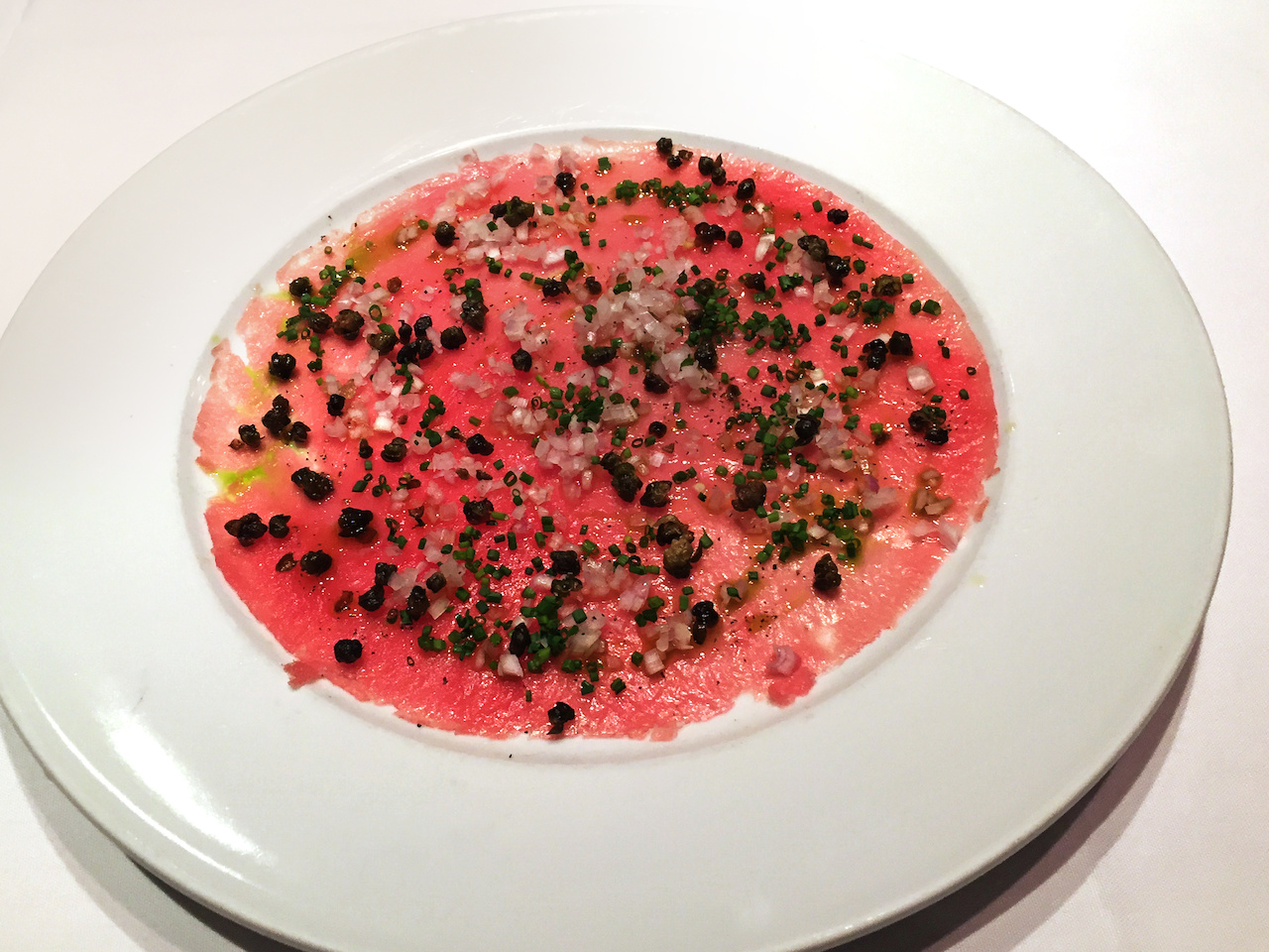 tuna crudo F&B styleblueprint atlanta