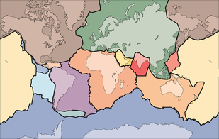 The outer layer of modern Earth is a collection of interlocking rigid plates, as seen in this illustration. These plates grind together, sliding past or dipping beneath one another, giving rise to earthquakes and volcanoes. But new research suggests that plate tectonics did not begin until much later in Earth's history. Image credit: USGS (Click image to download hi-res version.)