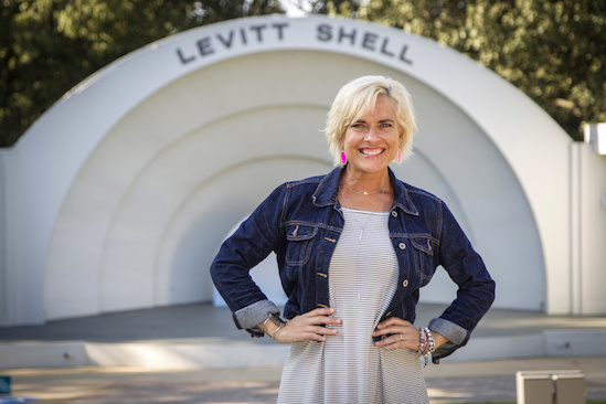 Teri's favorite attraction in Memphis is the Levitt Shell, so that's where we caught up with her on a beautiful fall day.