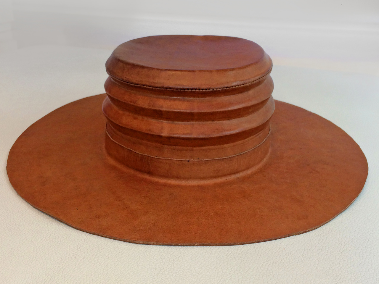 Leather men's hat StyleBlueprint Atlanta