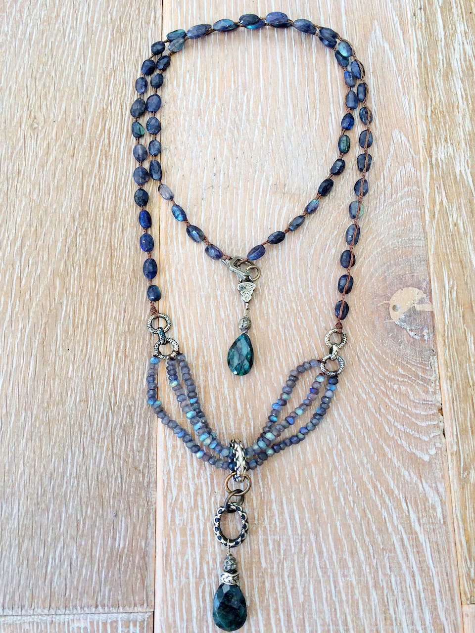 blue gemstone necklace StyleBlueprint Atlanta