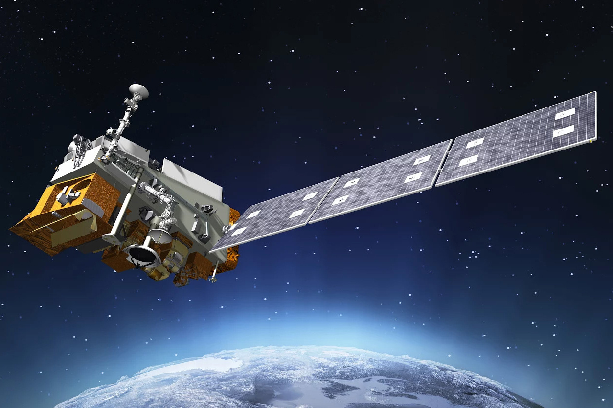 JPSS-1 is the first in a new series of four highly advanced NOAA polar-orbiting environmental satellites. Credit: NOAA.