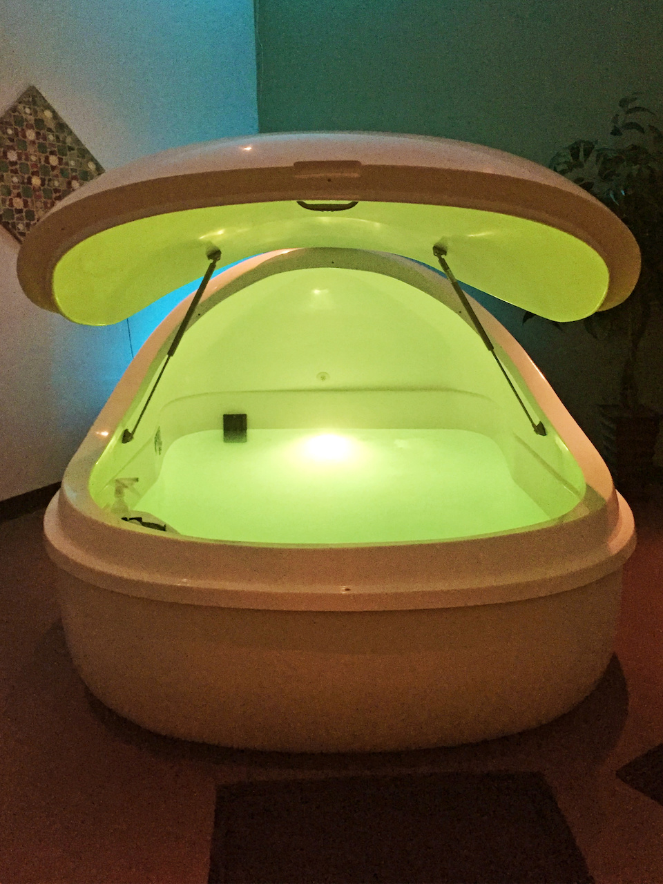 """It is nice finding that place where you can just go and relax,"" says Moises Arias, a float spa client."
