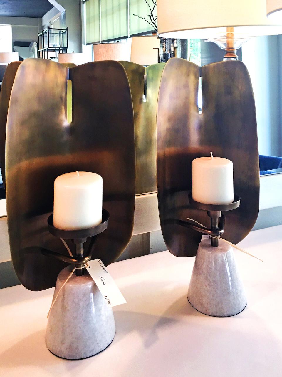 Modern sconces, $298 each, at Richard Tubb Interiors