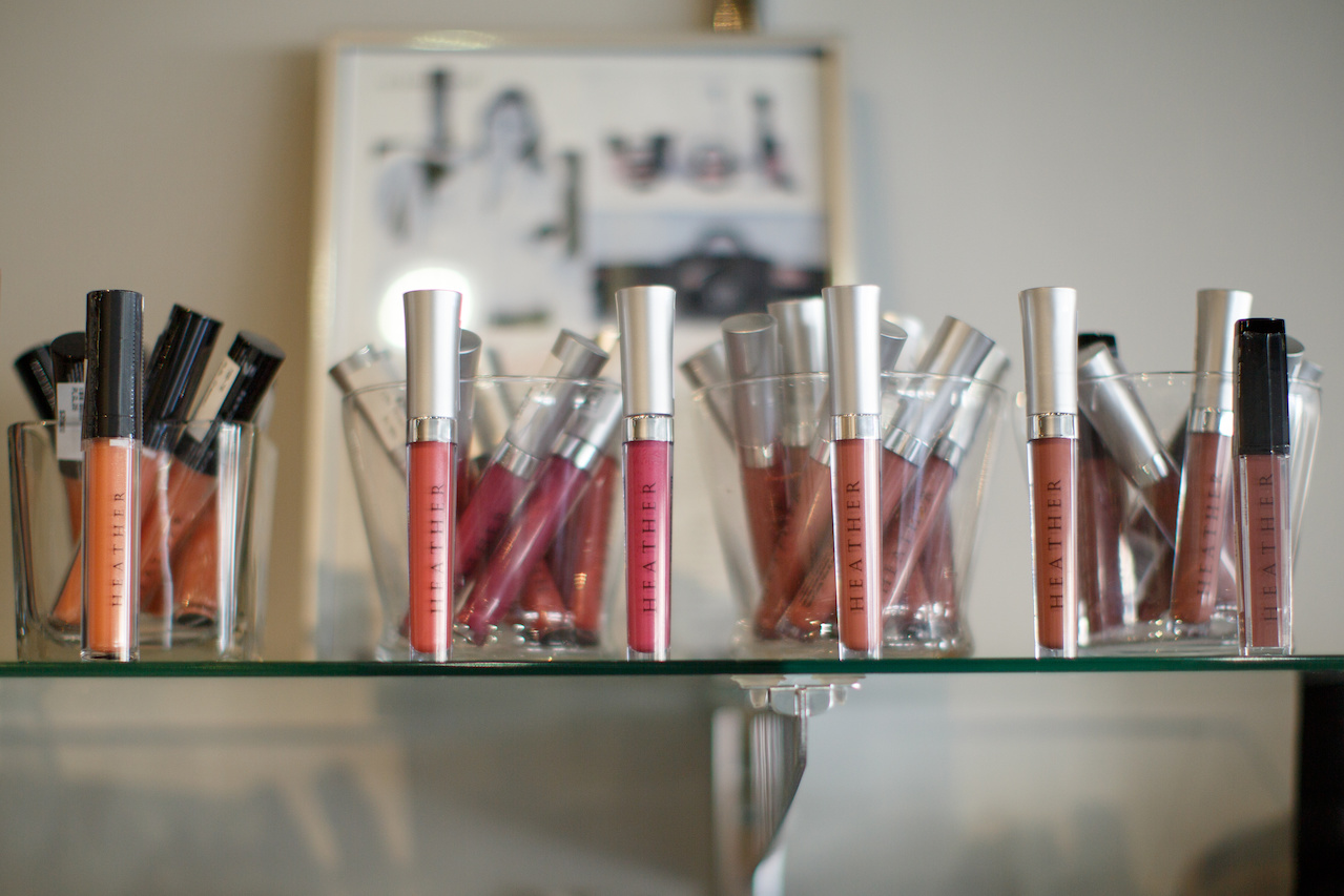 From Heather Boutique, Lip Stay, (L-R) Perfection, Desire, Natural, Buff and Bombshell, $29 each.