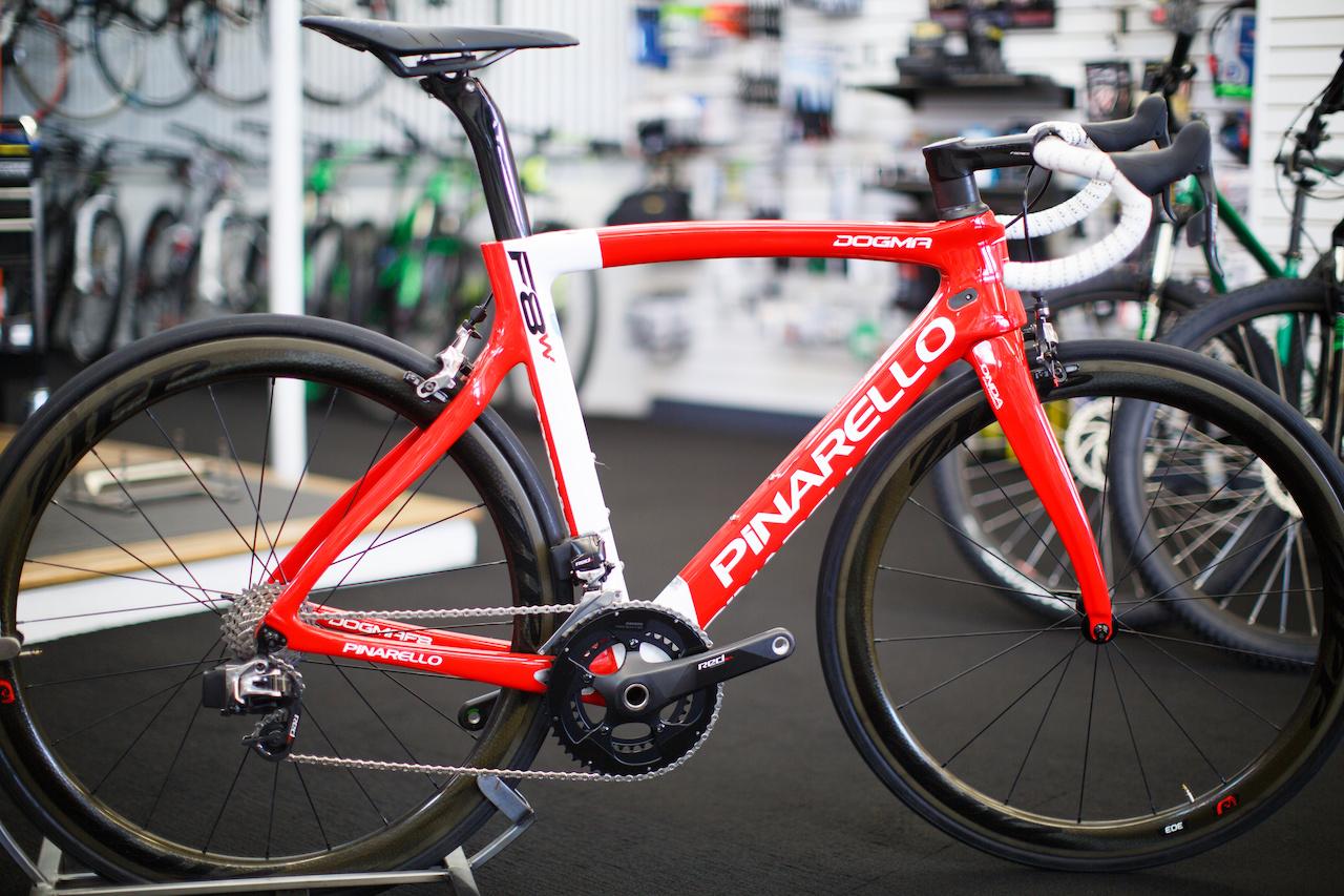 Pinarello Dogma F8 bike, $12,500 at Victory Bicycle Studio