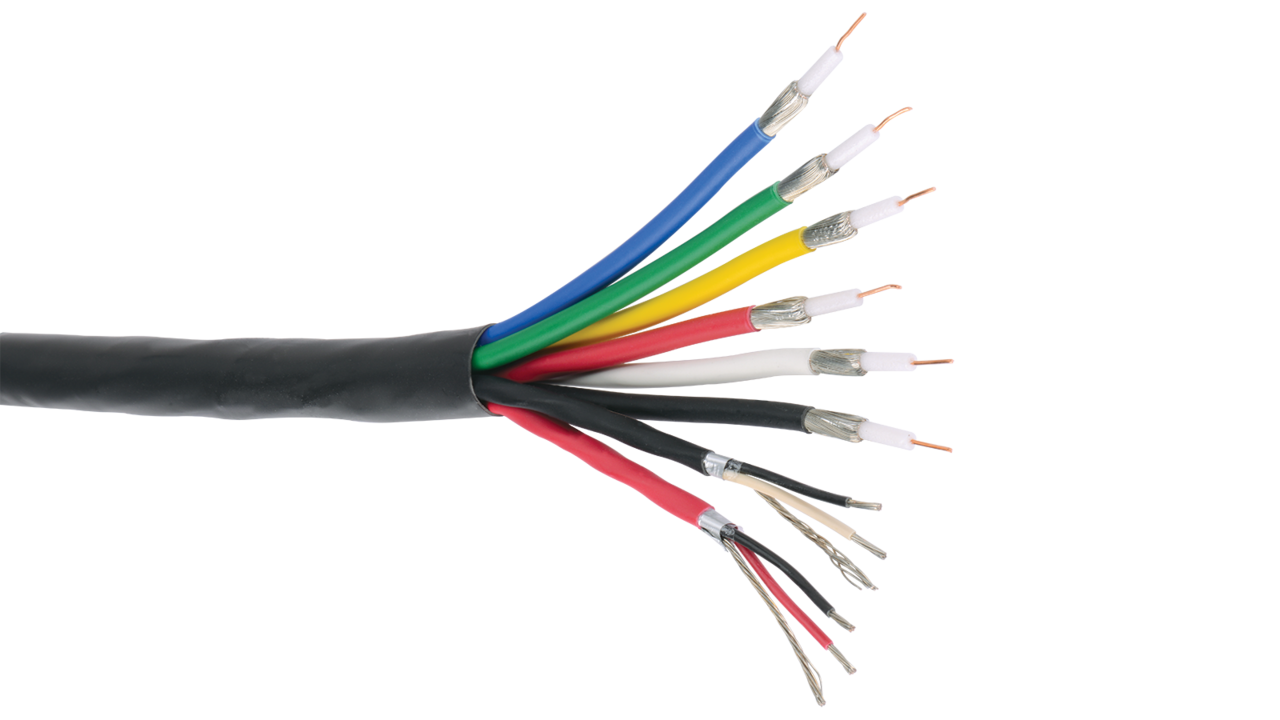 Rgb6c 25 22 2p Cmp Rgb Projector Net 6 X Awg Solid Mini High Category Wiring Diagram Type Resolution Coaxes And 2