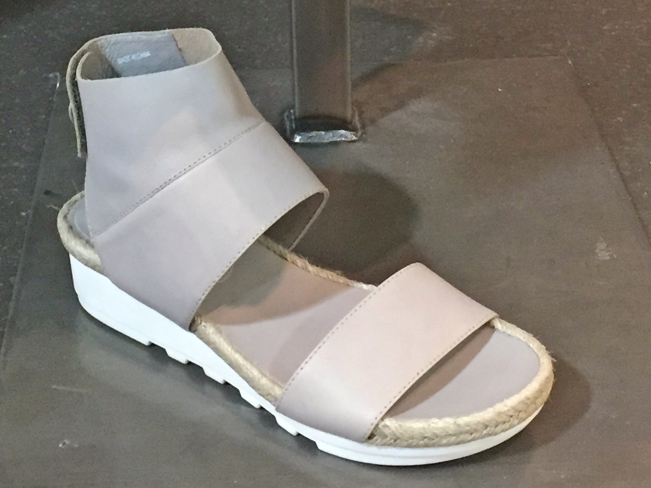From Betsy Prince: Eileen Fisher silver platform sandal, $195