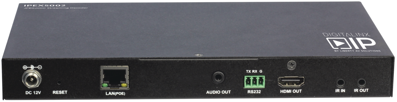 IPEX5002 - HDMI Over IP Decoder - Scalable 4K Solution over 1Gb
