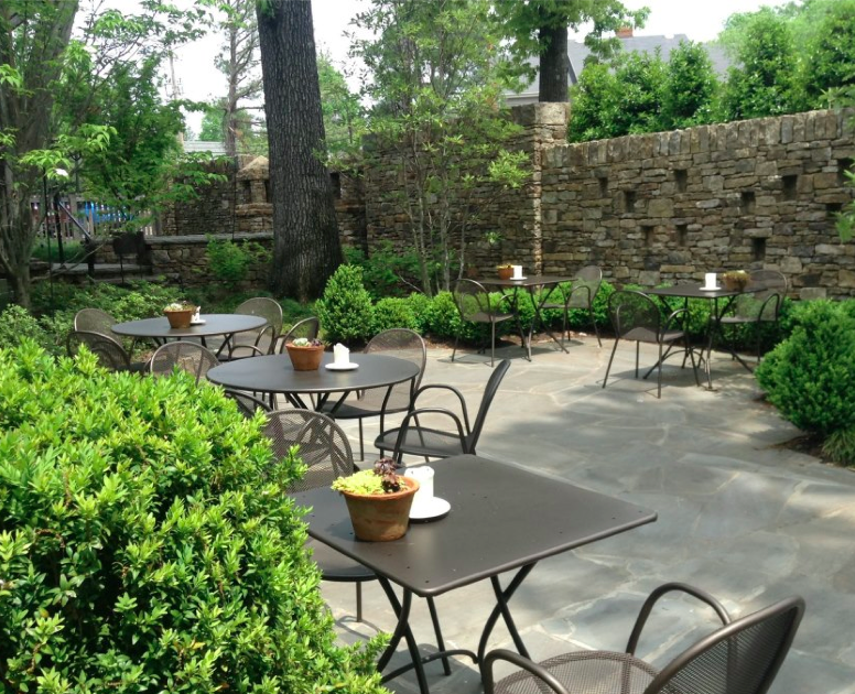 The patio at Acre is gorgeous any time, and is especially popular in the evenings.