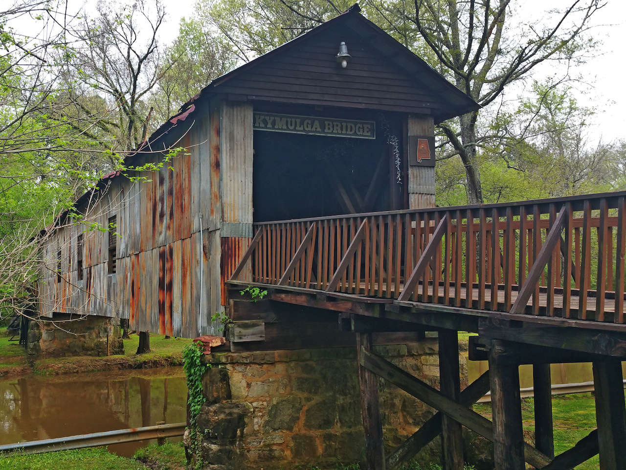 The tin siding of the Kymulga Bridge was added for economic and liability reasons.