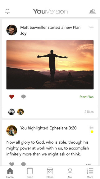 Listen to a higher calling with the free YouVersion app.