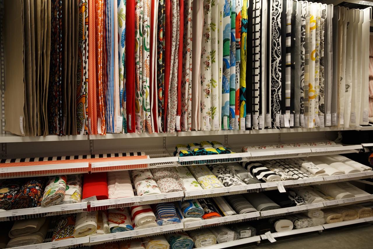 "IKEA sells fabric by the yard, and good-sized remnants can often be found in the ""as-is"" area of the store."