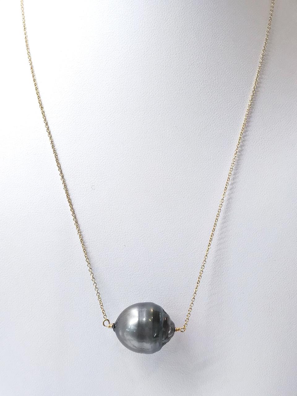 Baroque Tahitian pearl necklace, $560, at Jordan Alexander