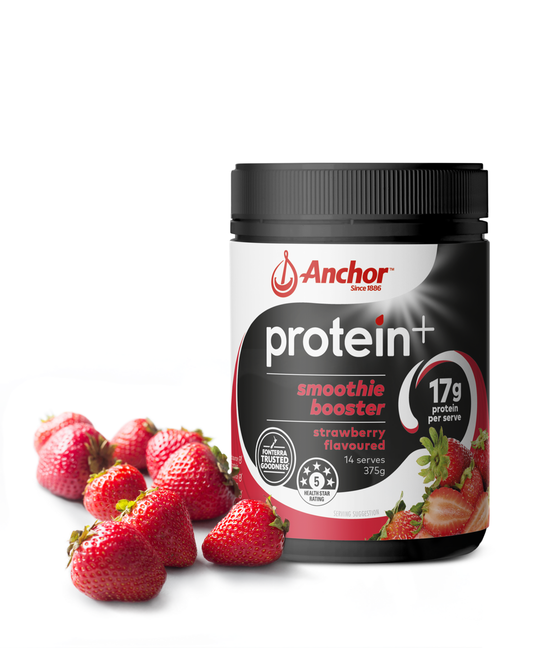 Anchor Protein+ Strawberry Smoothie Booster 375g pack