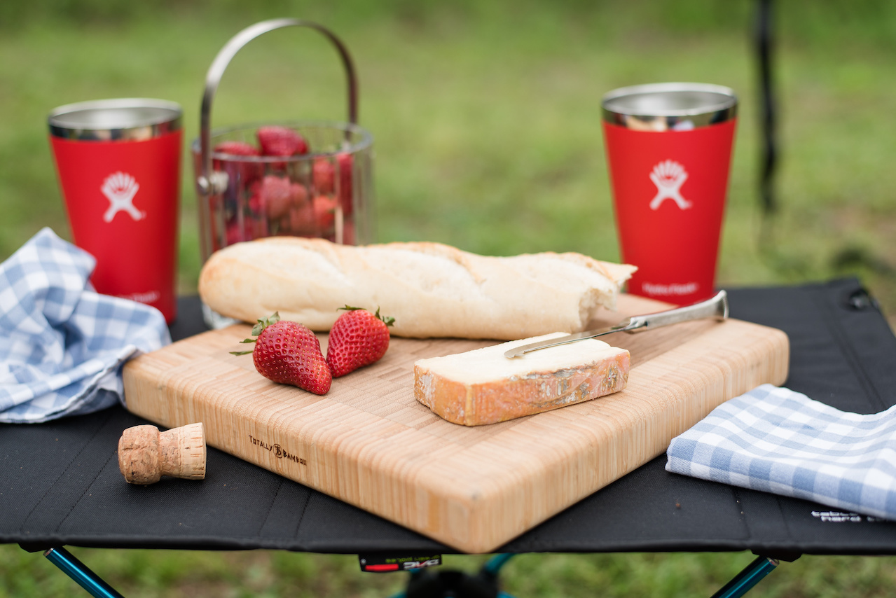 You don't have to sacrifice culinary quality just because you're in the great outdoors. Forego the chips and hot dogs for your favorite epicurean delights!