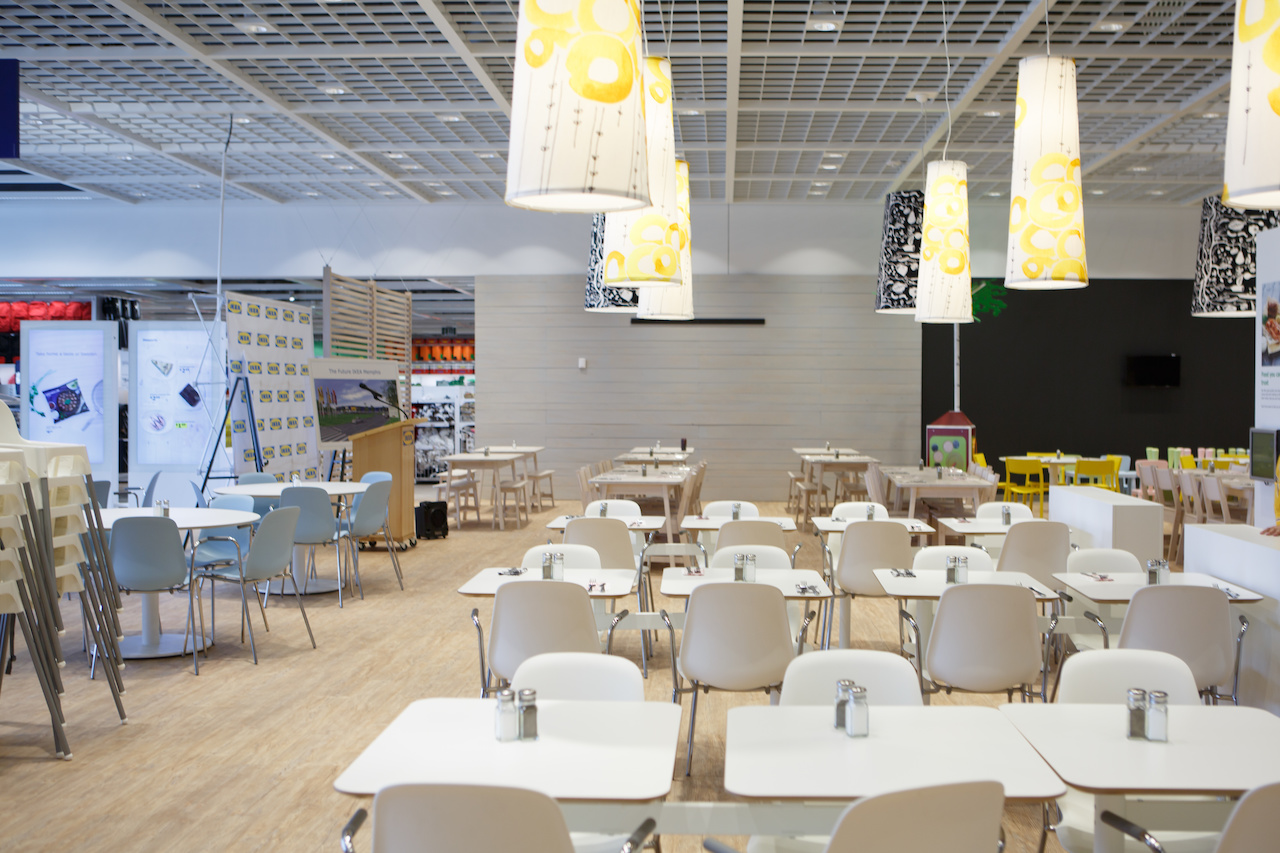 There are two eateries at IKEA: A 250-seat restaurant with yummy Swedish and American options...
