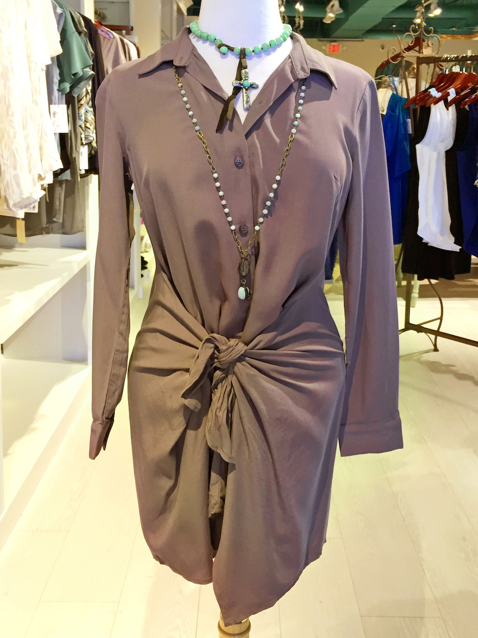 Frolic Boutique shirtdress StyleBlueprint Atlanta