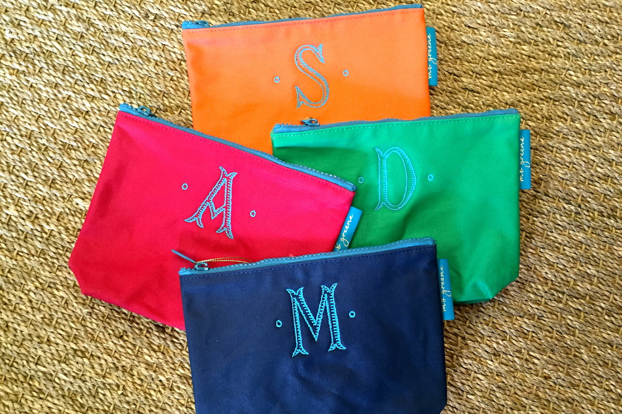 Initial pouch, $26 at Gild the Lily