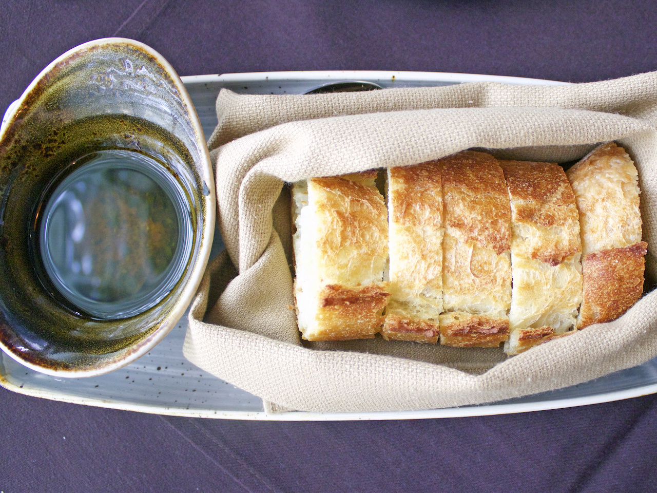 You know you're off to a good start when your meal begins with warm-from-the-oven Blue Dog br.jpg
