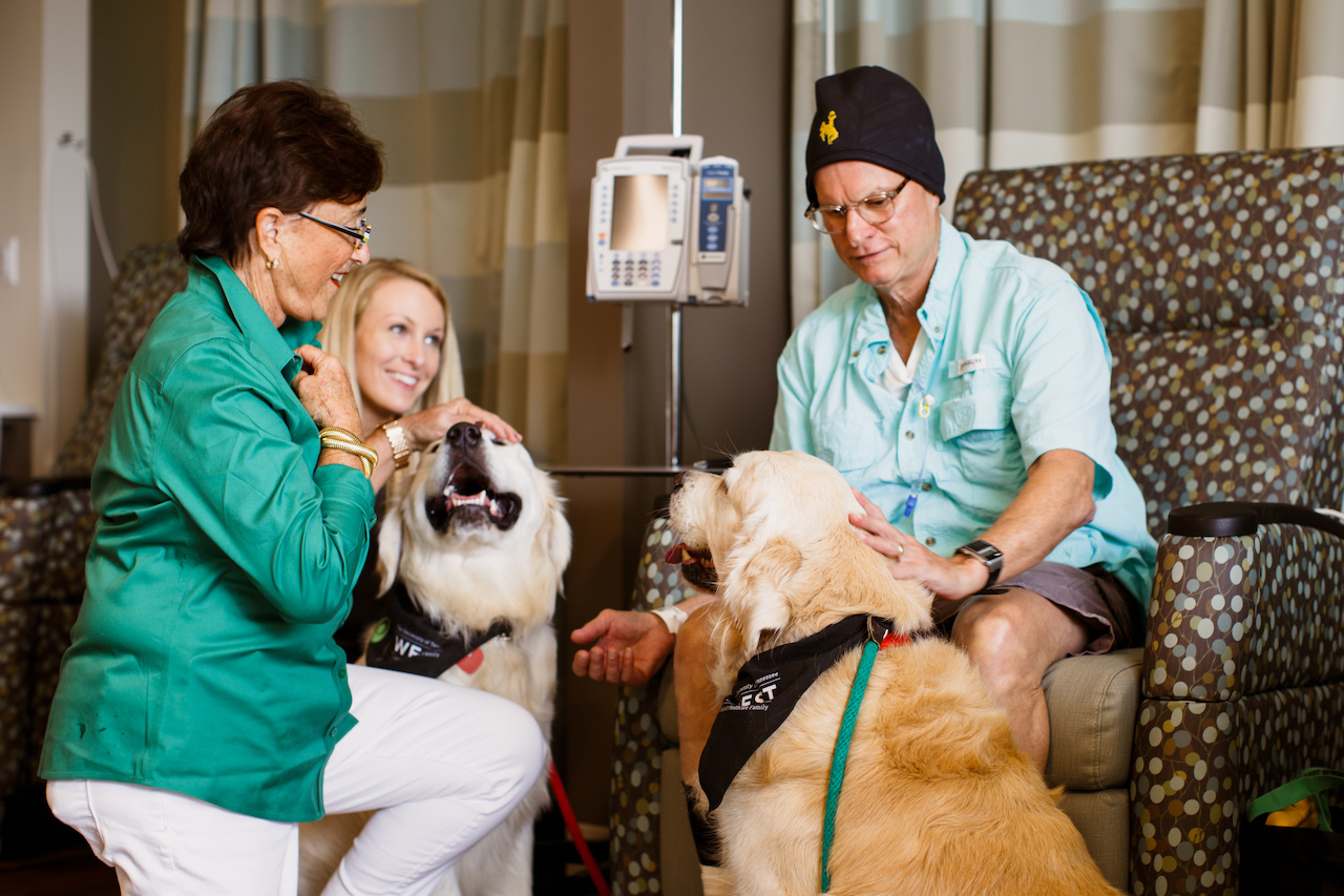 "Therapy dogs change lives and comfort people at their darkest hours,"" says Jo Anne. ""Being a handler is more than having a sweet dog. Its caring, comforting, and listening and sometimes just holding a hand."""