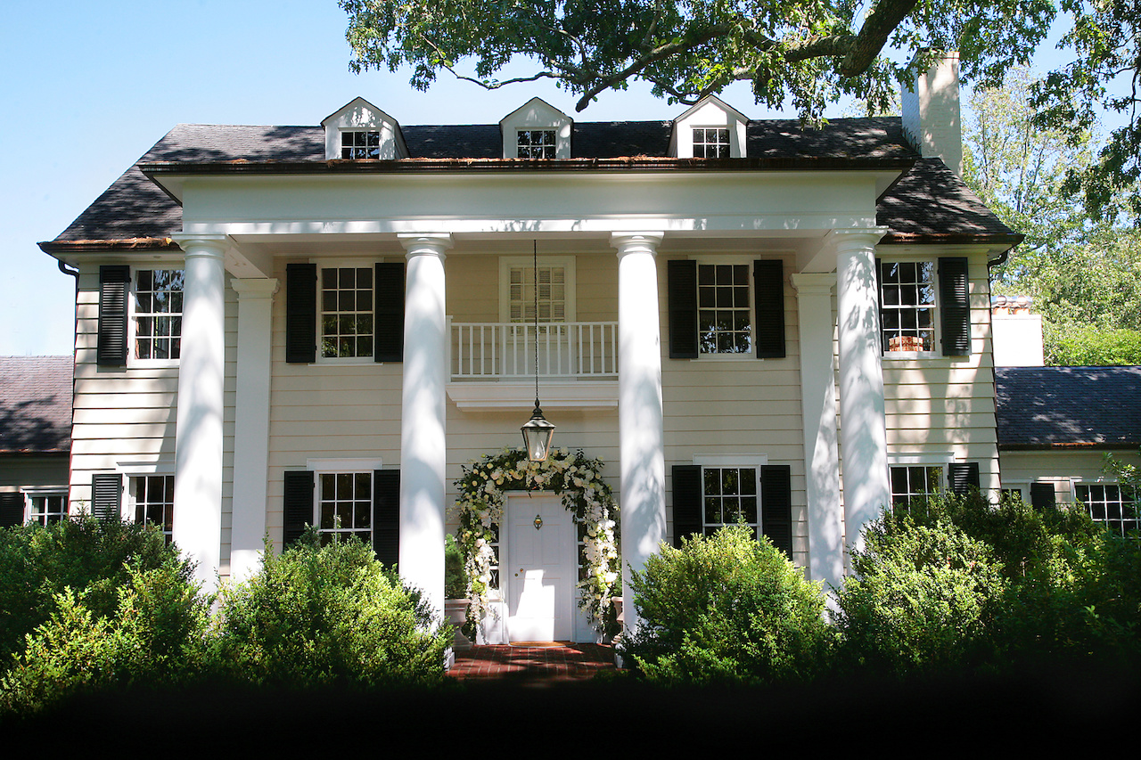Bryson's grandfather's estate was the setting for the spring wedding.