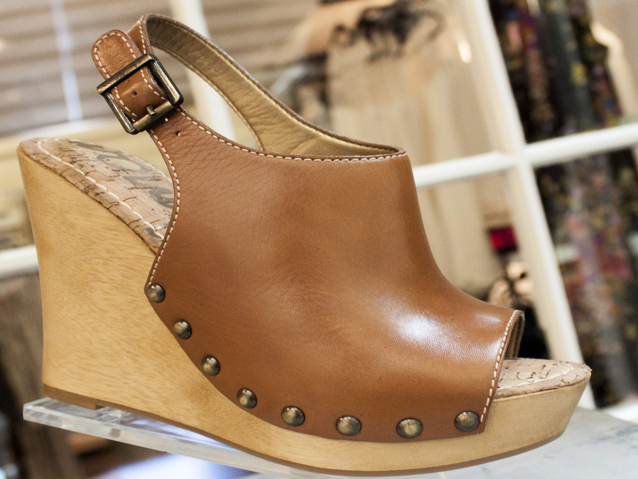 Sam Edelman open-toe brown wedges, $119, from More Therapy.