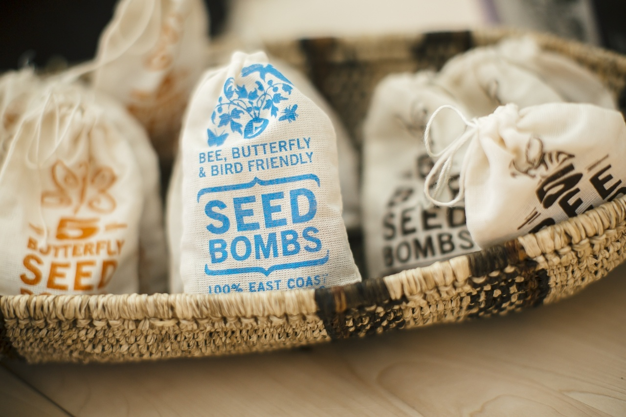 In addition to succulents and terrariums, The ZEN Succulent also carries items like these seed bombs, which are simply a garden in a pouch. Scatter the bombs, and wait for the flowers to emerge!