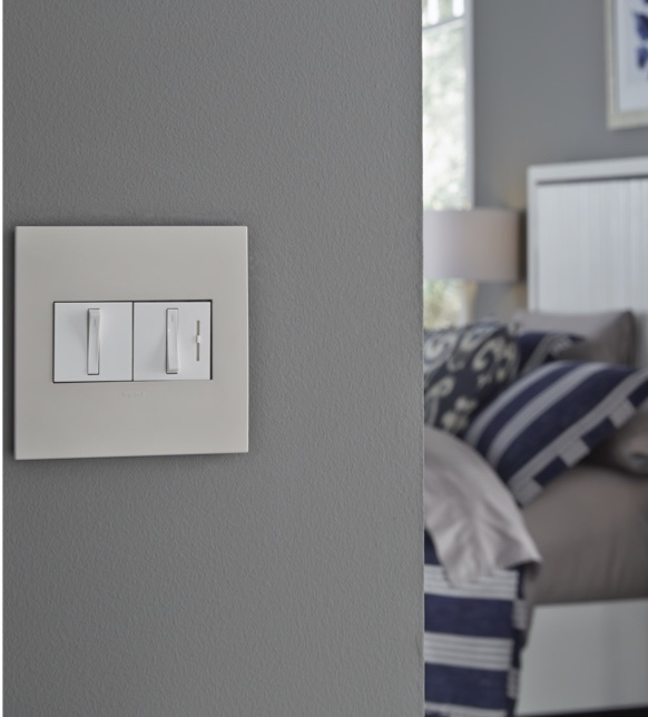 White adorne switch in bedroom entryway