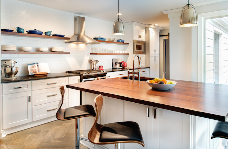 Open shelving is one of our favorite kitchen trends