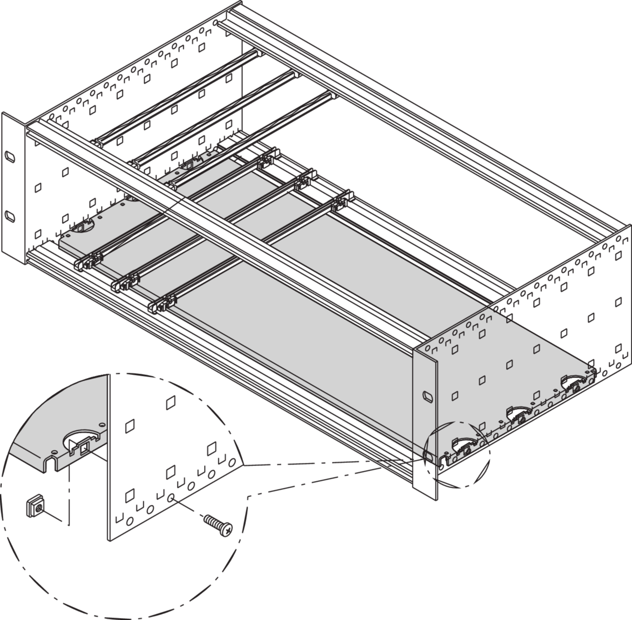 Image for Mounting plate in combination without cover plate from Schroff | Europe, Middle East, Africa and India