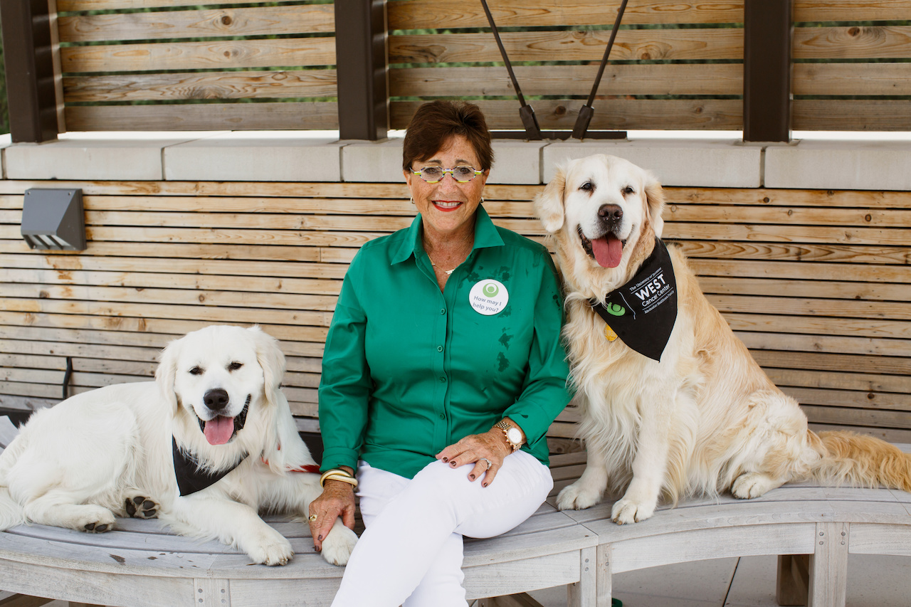 """The participants at The Exceptional Foundation love to learn how to take care of dogs and be a responsible owner, says Jo Anne. ""Boss and Keys also teach fire safety by doing STOP DROP AND ROLL! And we usually get a good laugh!"""