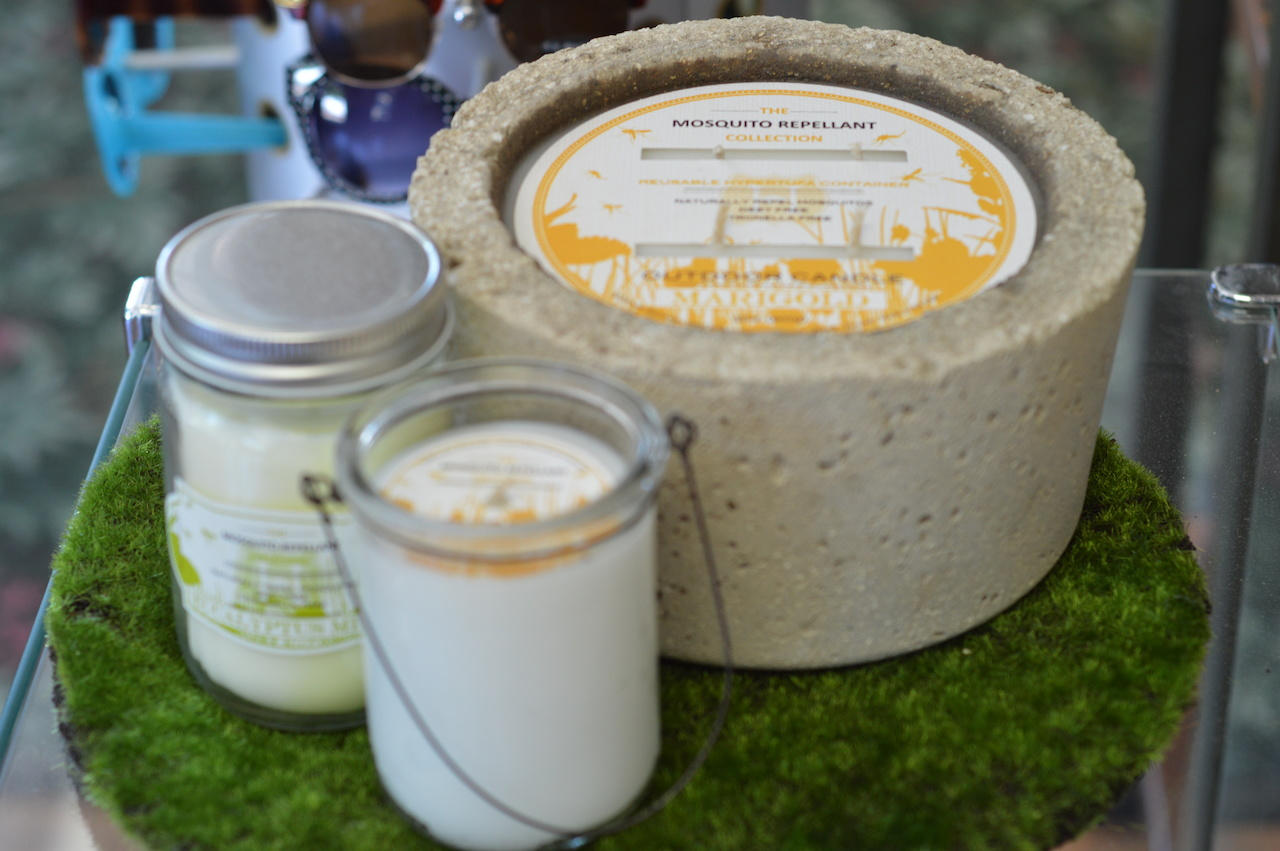 Mosquito Repellent Collection candles available in Marigold and Eucalyptus Mint at Apothetique