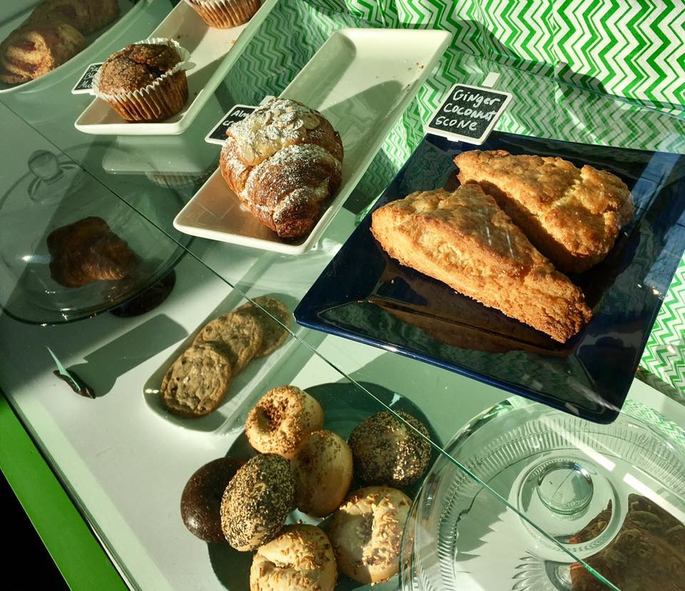 Bean offers a rotating selection of locally-sourced pastries and other baked goods.
