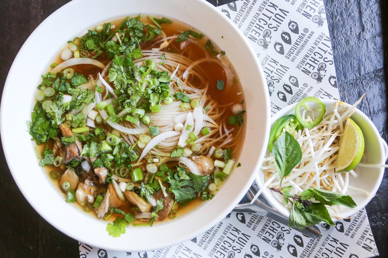 Pho soup at Vui's Kitchen.