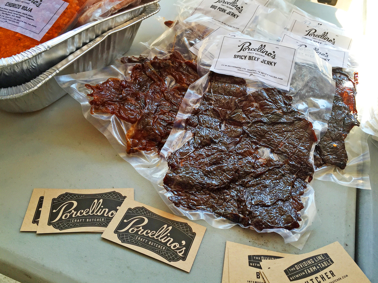 Spicy Beef Jerky from Porcellino's, $10
