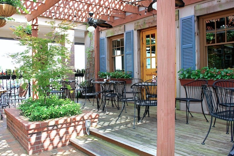 Ciao Bella's patio is a lovely spot tucked into a corner near the front of the restaurant.