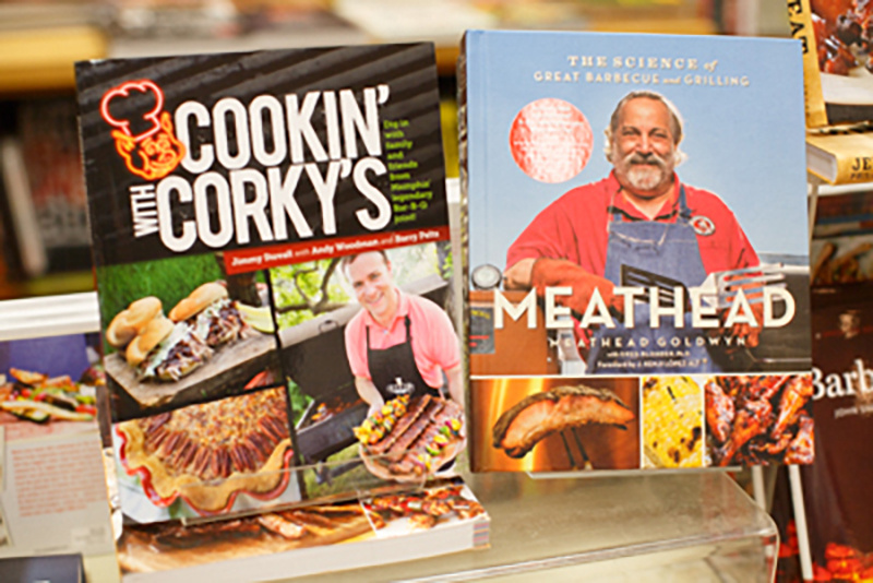 Cooking with Corky's, $24.95, and Meathead: The Science of Great Barbecue and Grilling by Meathead Goldwyn, $35, available at The Booksellers at Laurelwood.