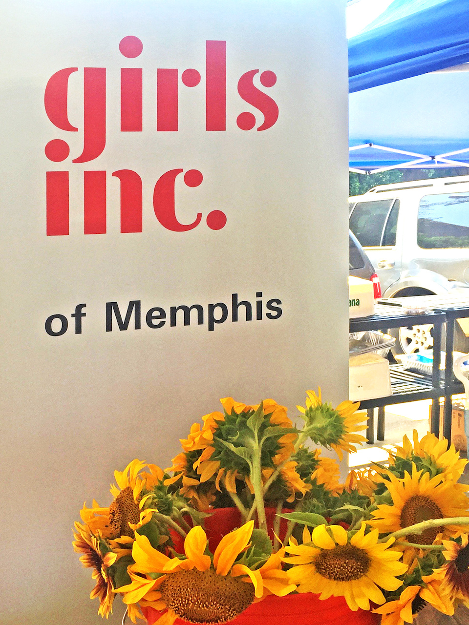 The Girls, Inc. booth sets up every Saturday morning to sell their homegrown products, including honey, $5.50.