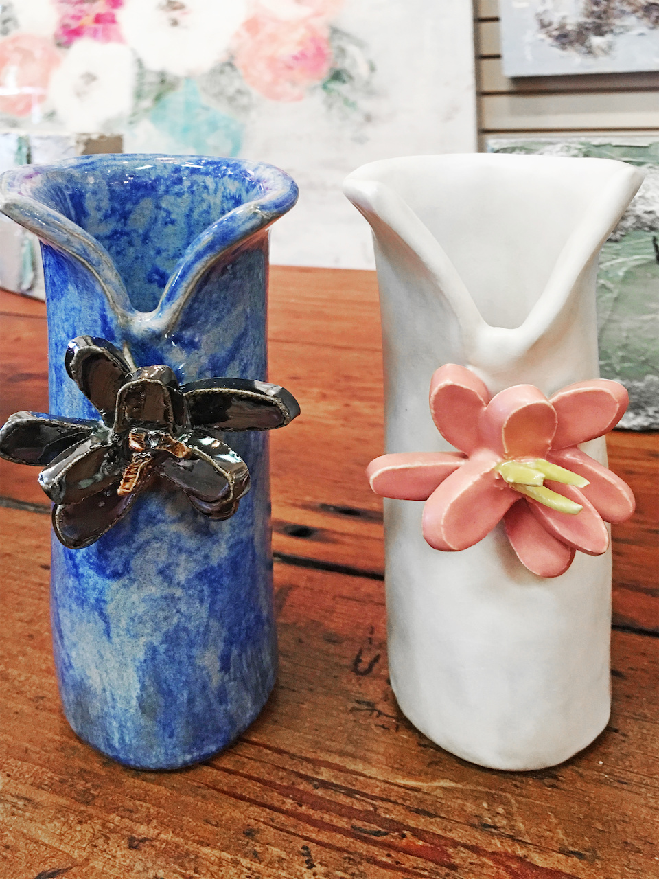 Alton Sharick flower vase, $40 each, at Mulberry Heights Antiques