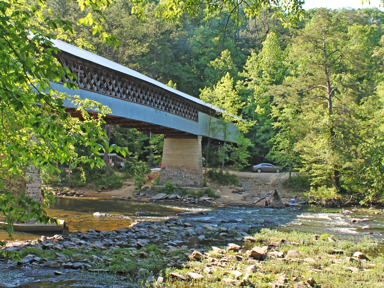 Sometimes referred to as the Swann-Joy Bridge, this covered bridge was constructed in 1933 to connect the town of Cleveland to the town of Joy.
