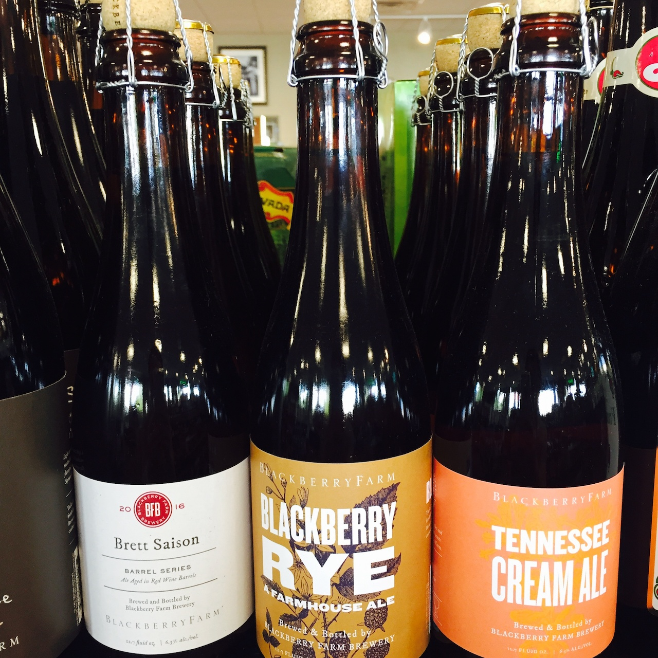 Brett Saison, Blackberry Rye and Tennessee Cream Ale, $8.49 each at Buster's Liquors and Wines