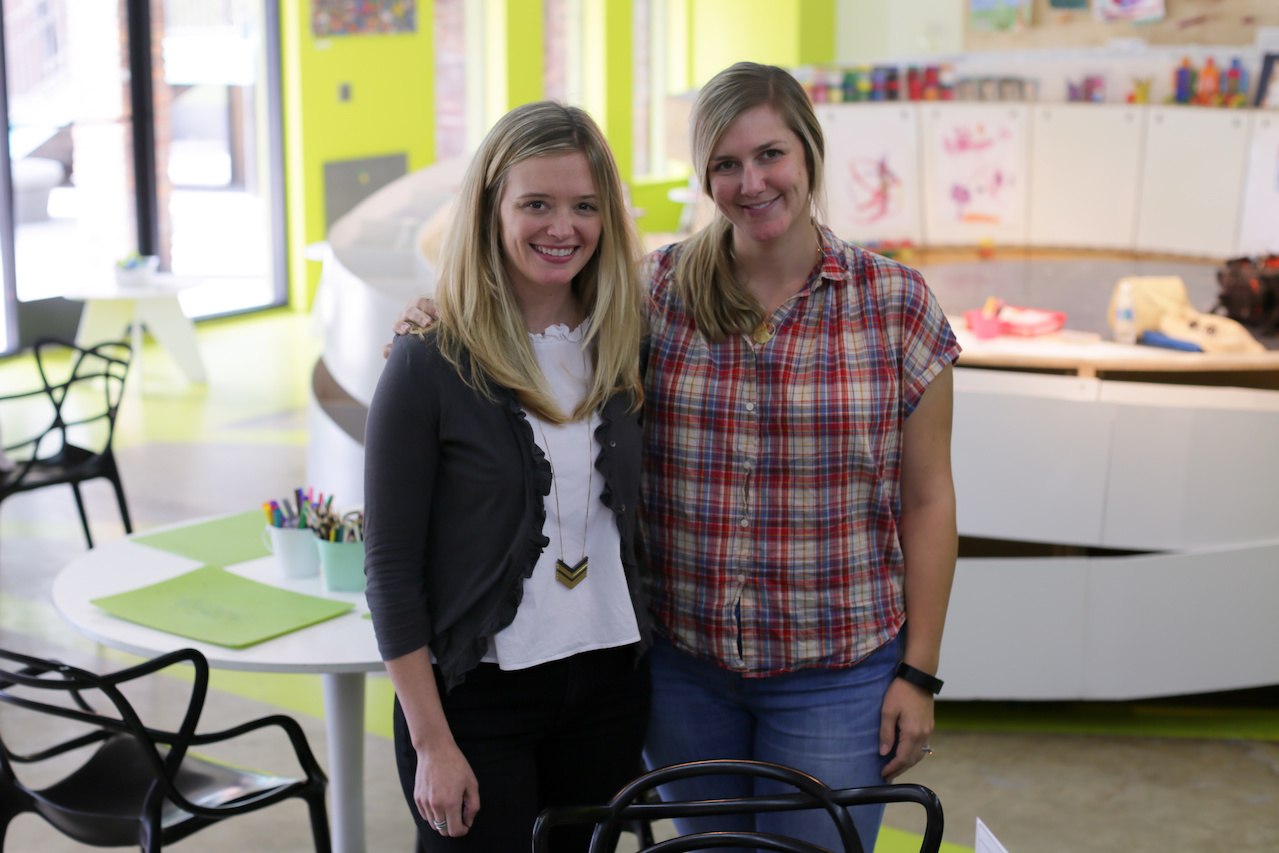 Katherine Vergos Riederer and Anna Vergos Blair created a space where kids AND adults can let their creativity flow.